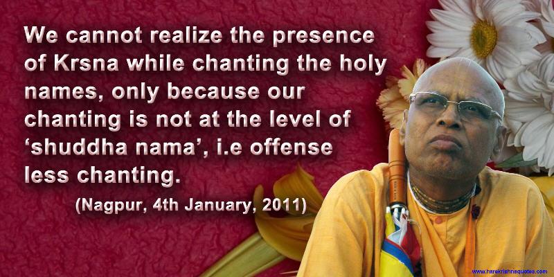 Lokanath Swami on Offenseless Chanting