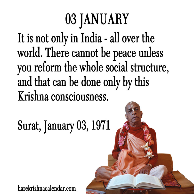 Prabhupada Quotes For The Month of January 03