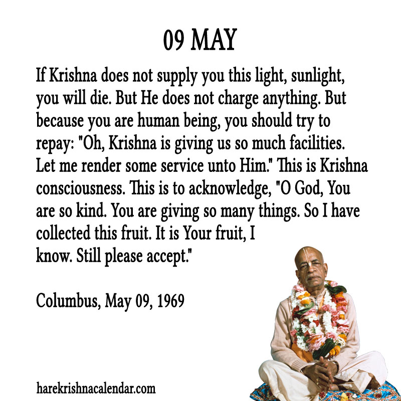 Prabhupada Quotes For The Month of May 09