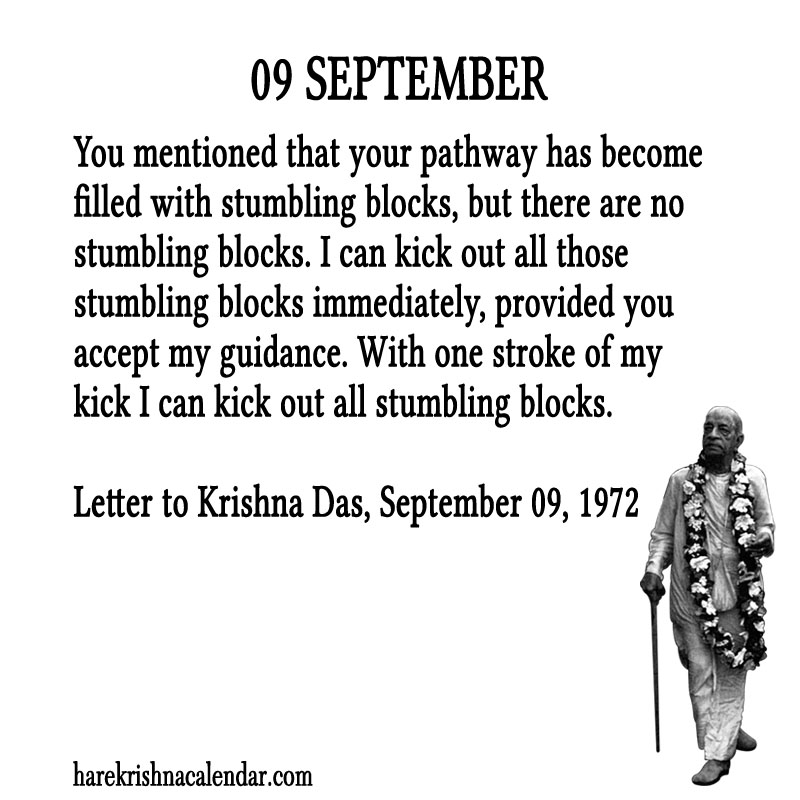 Prabhupada Quotes For The Month of September 09