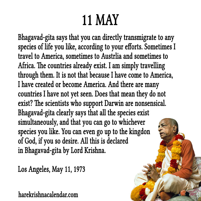 Prabhupada Quotes For The Month of May 11
