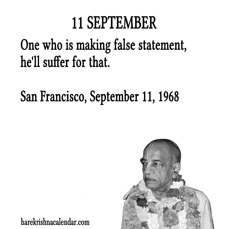 Prabhupada Quotes For The Month of September 11