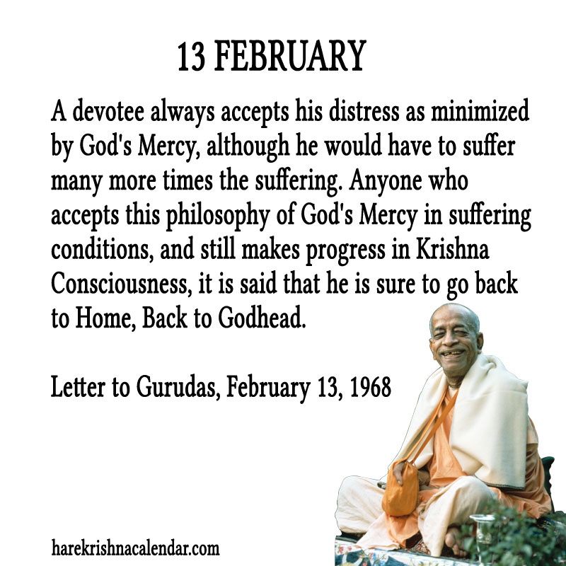 Prabhupada Quotes For The Month of Februry 13