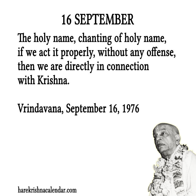Prabhupada Quotes For The Month of September 16