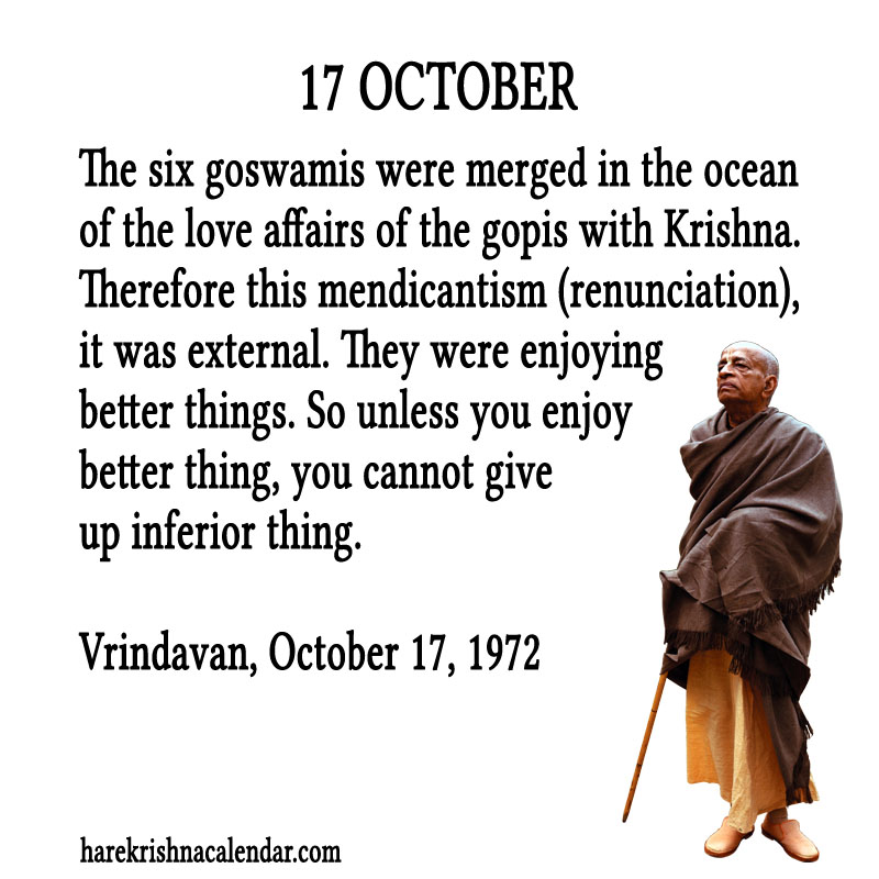 Prabhupada Quotes For The Month of October 17