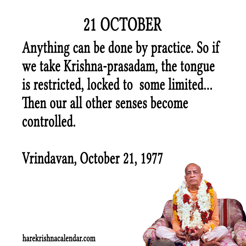 Prabhupada Quotes For The Month of October 21