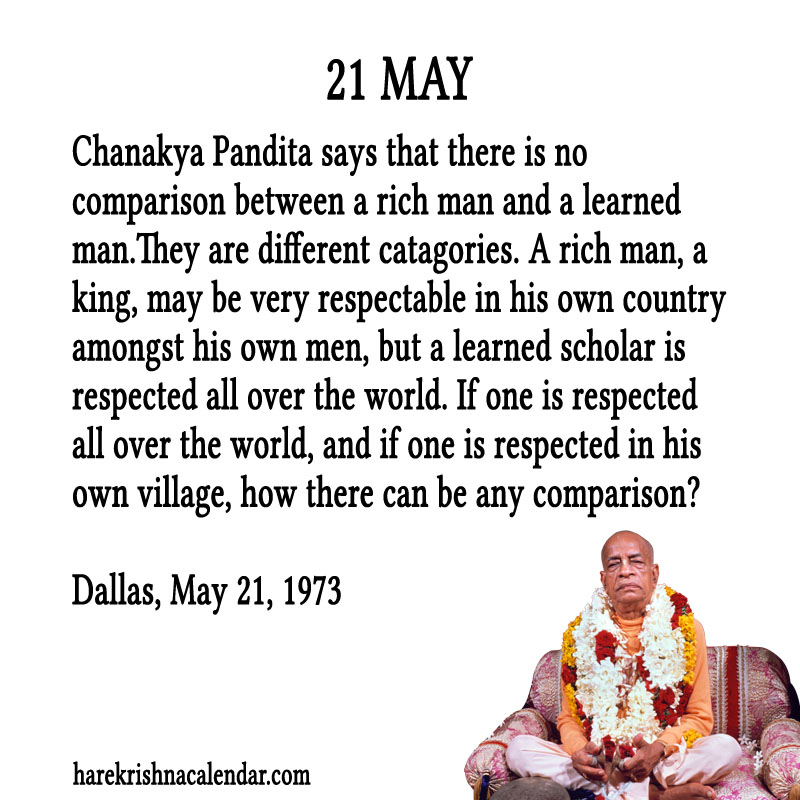 Prabhupada Quotes For The Month of May 21