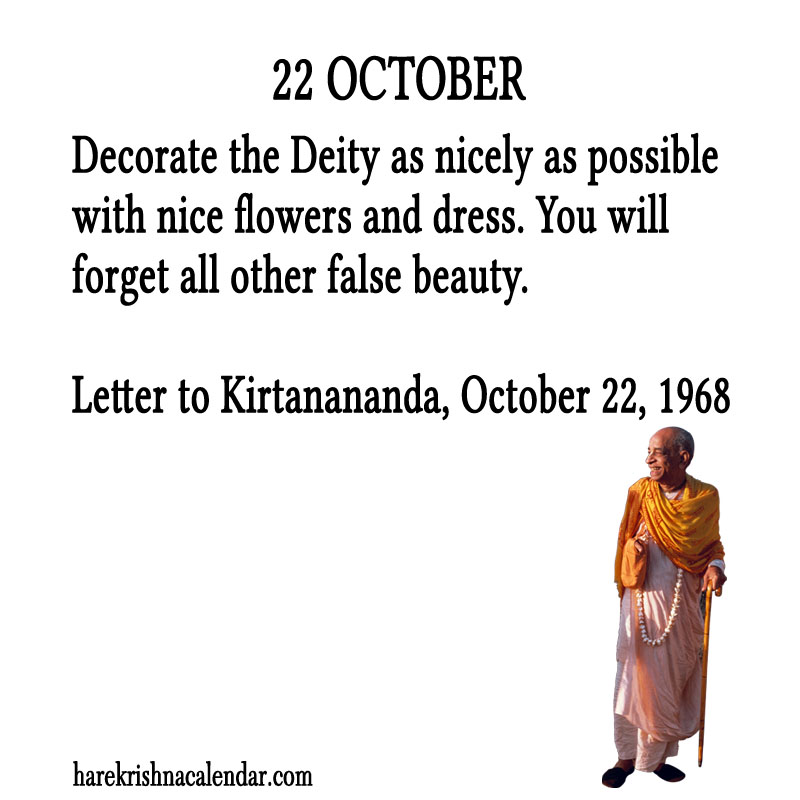 Prabhupada Quotes For The Month of October 22