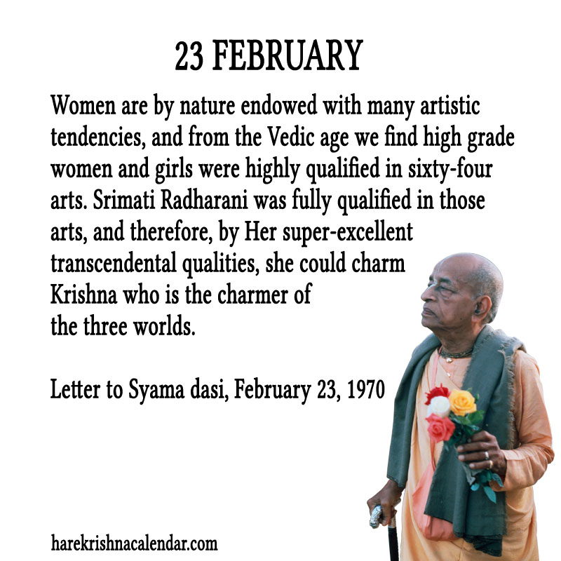 Prabhupada Quotes For The Month of Februry 23