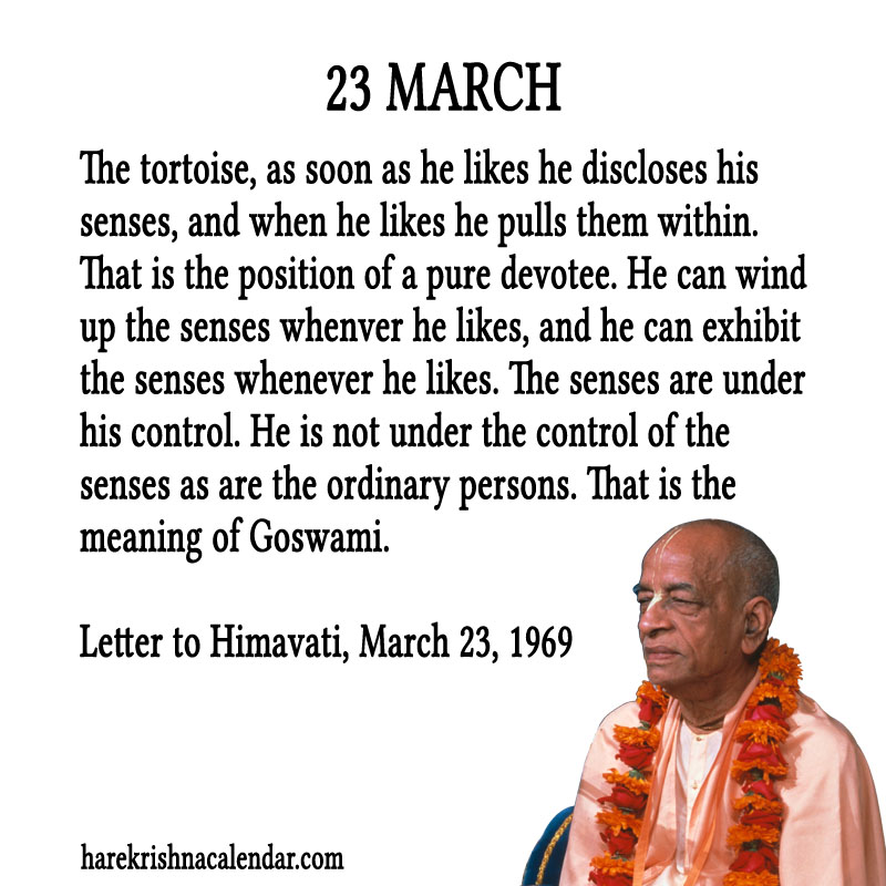 Prabhupada Quotes For The Month of March 23