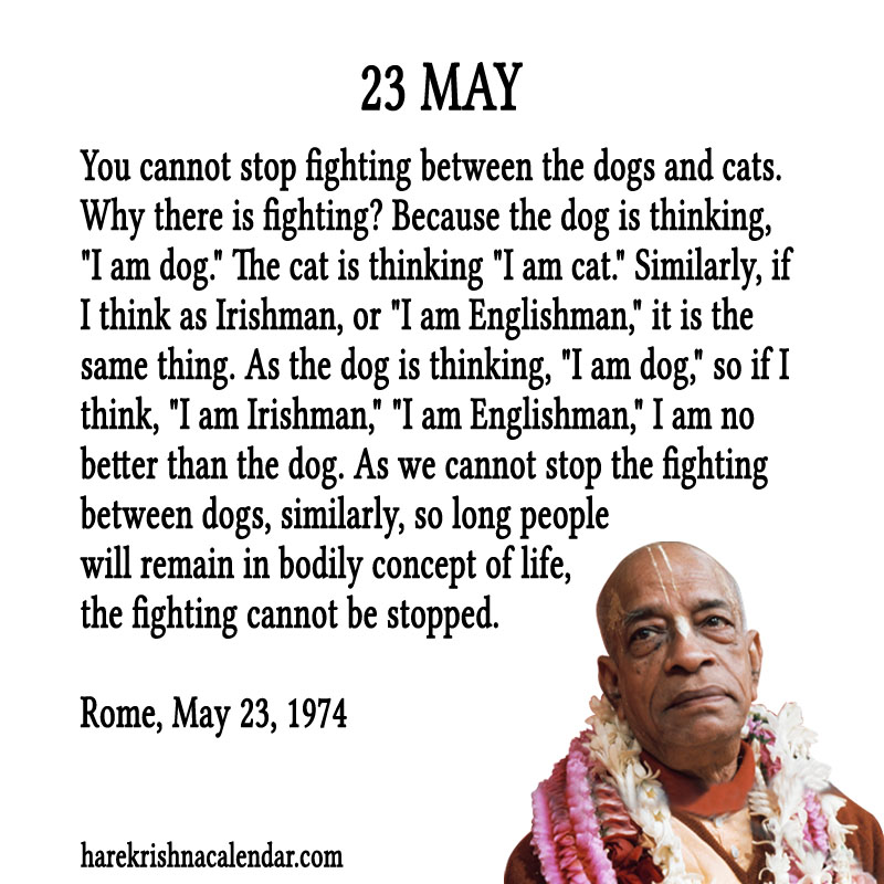 Prabhupada Quotes For The Month of May 23