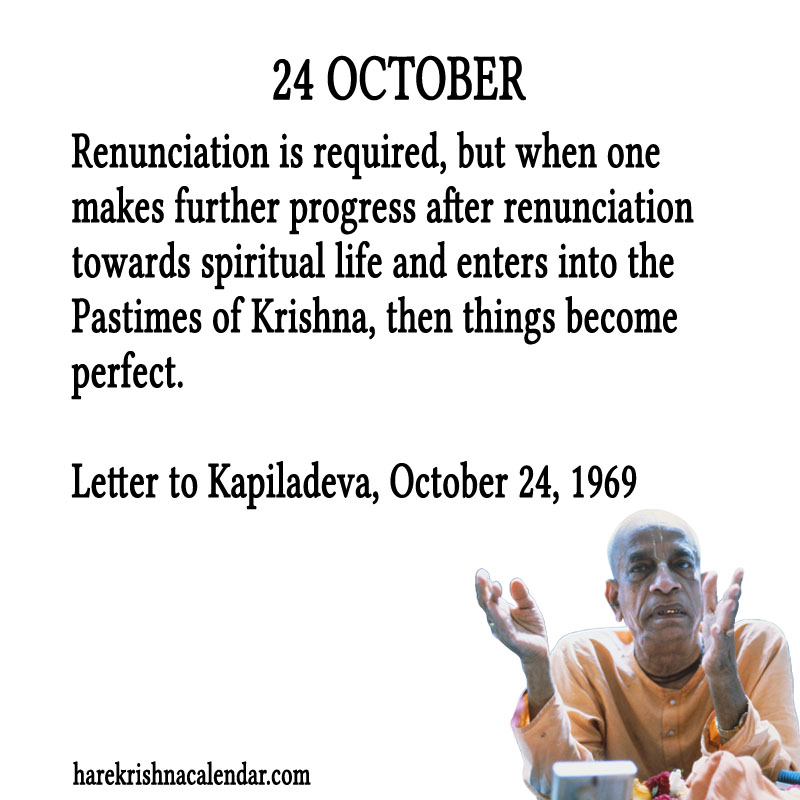 Prabhupada Quotes For The Month of October 24