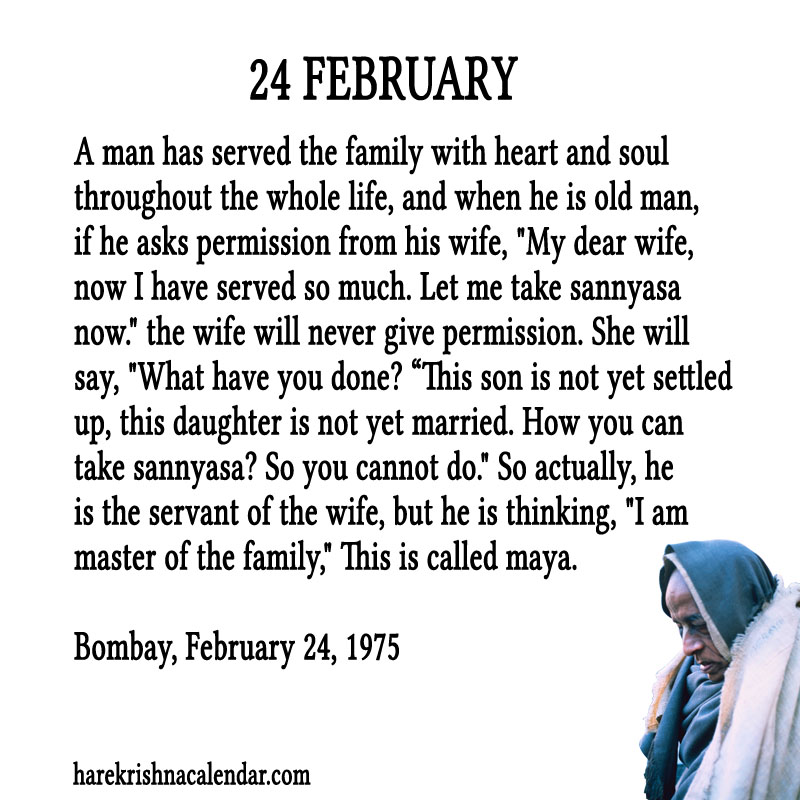 Prabhupada Quotes For The Month of Februry 24