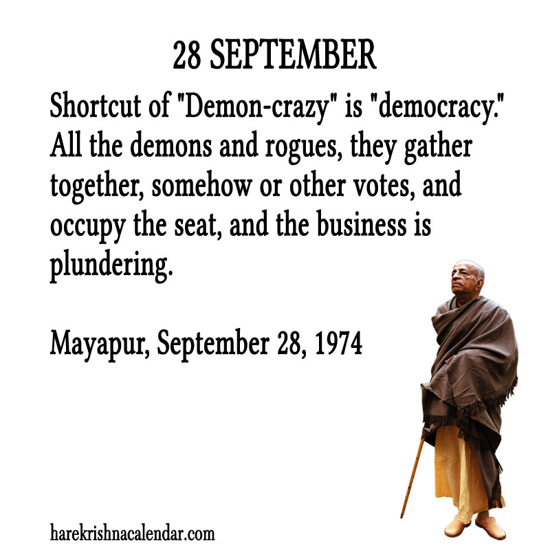Prabhupada Quotes For The Month of September 28