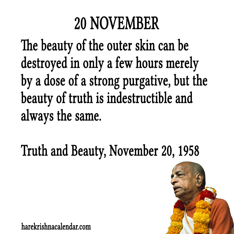 Prabhupada Quotes For The Month of November 20