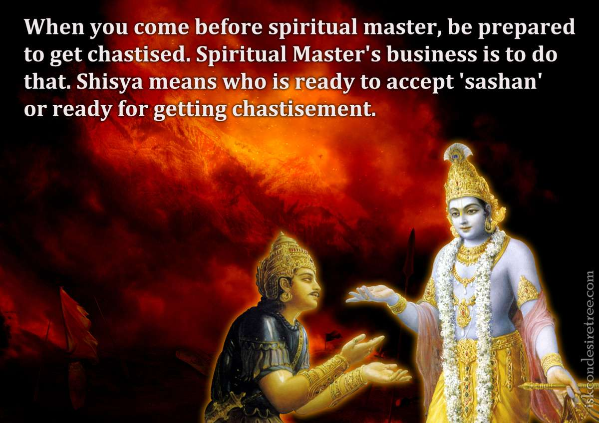 Bhakti Charu Swami on Accepting Chastisement from The Spiritual Master