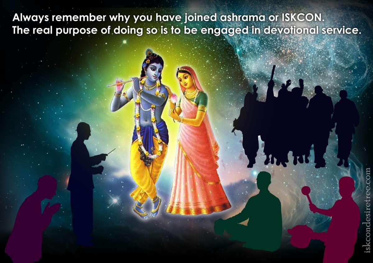 Bhakti Charu Swami on Real Purpose of Joining ISKCON