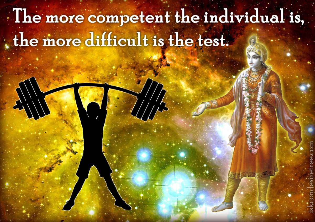 Bhakti Charu Swami on Relation between Competency and Difficulty of The Test