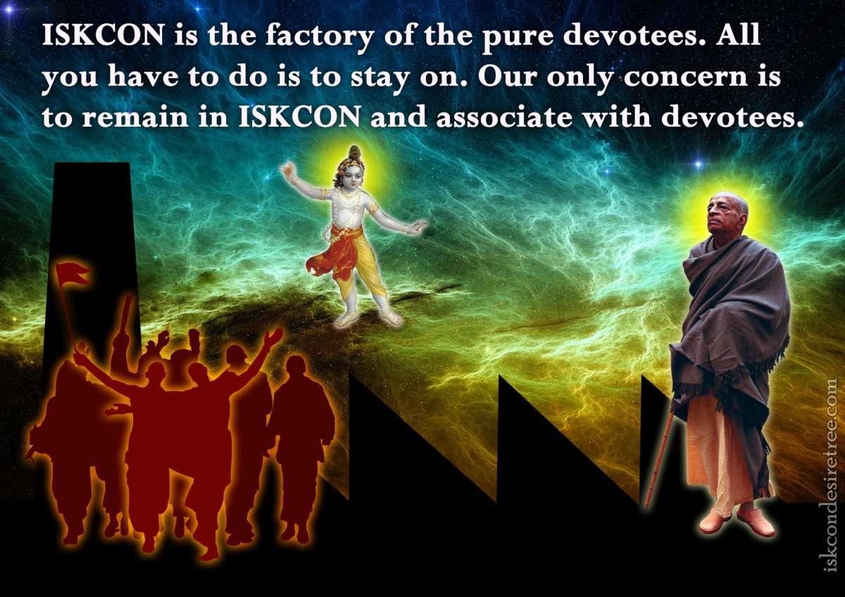 Bhakti Charu Swami on Remaining in ISKCON