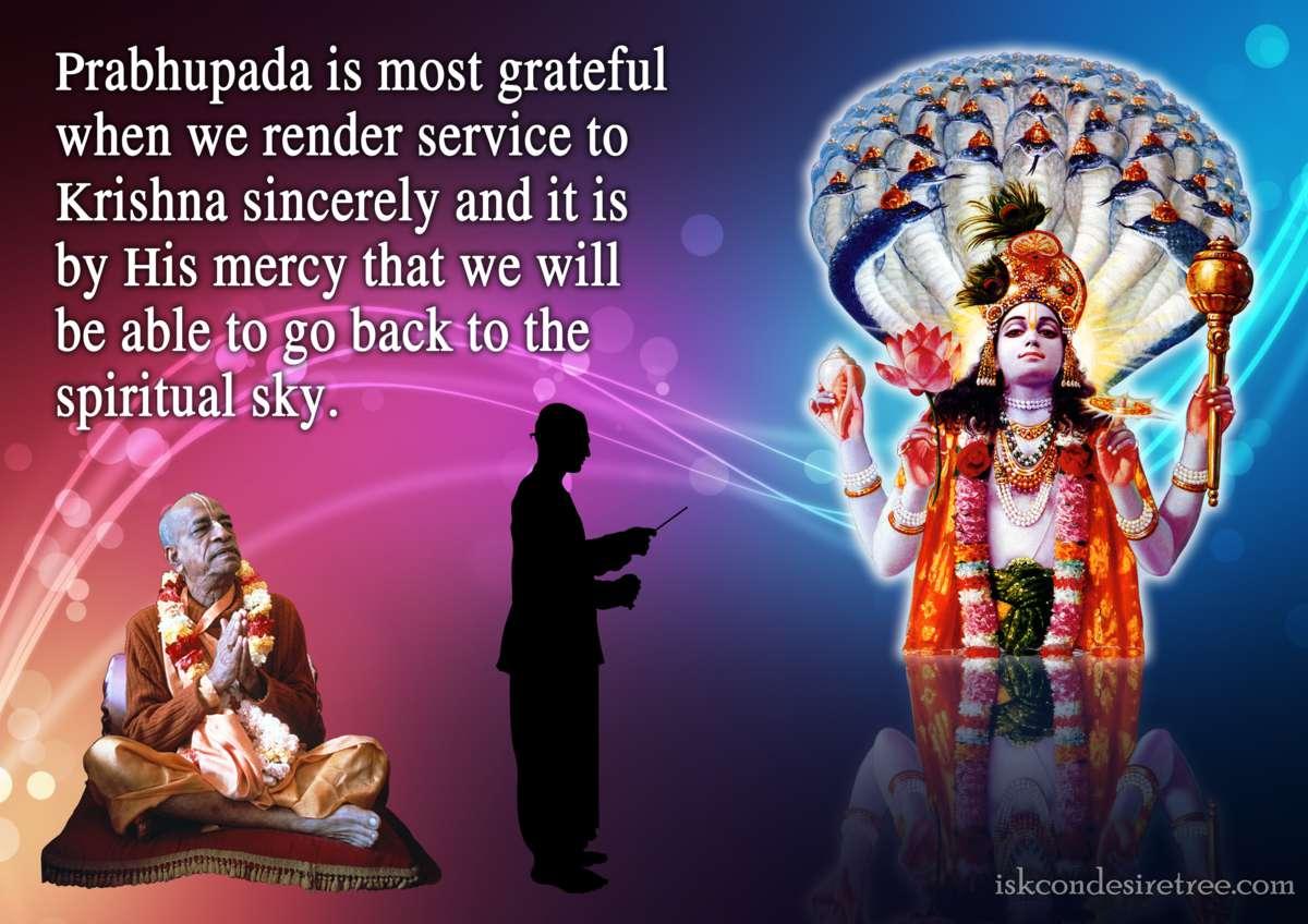 Bhakti Charu Swami on Rendering Service to Krishna