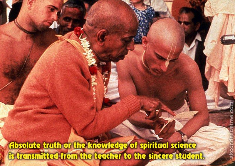 Bhakti Swarup Damodar Swami on Transmission of Spiritual Science