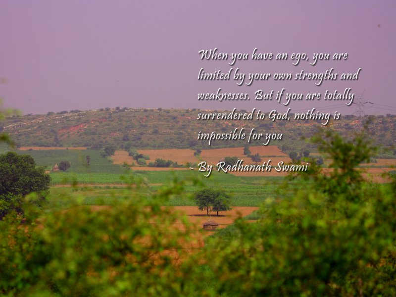 Radhanath Swami on Being Totally Surrendered to God