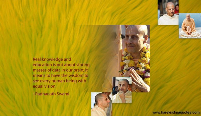 Radhanath Swami on Real Knowledge and Education
