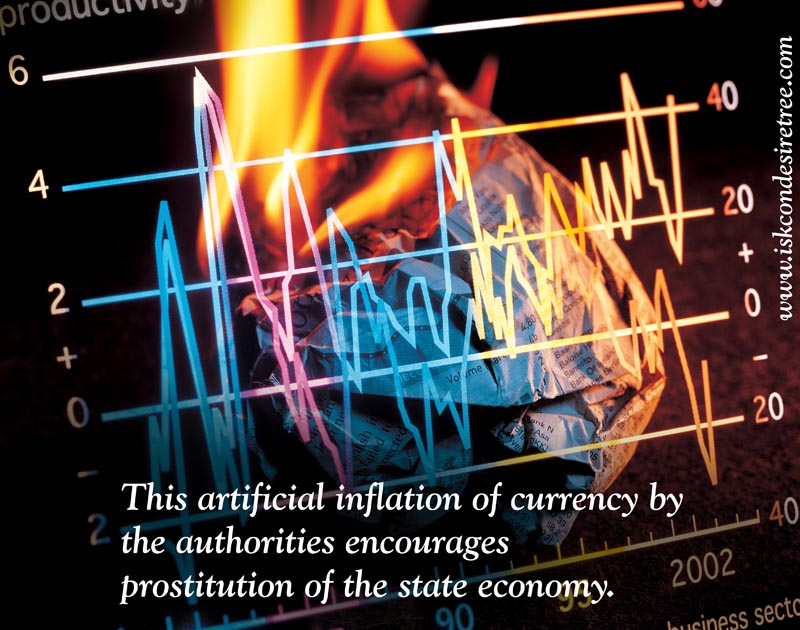 Quotes by Srila Prabhupada on Artificial Inflation