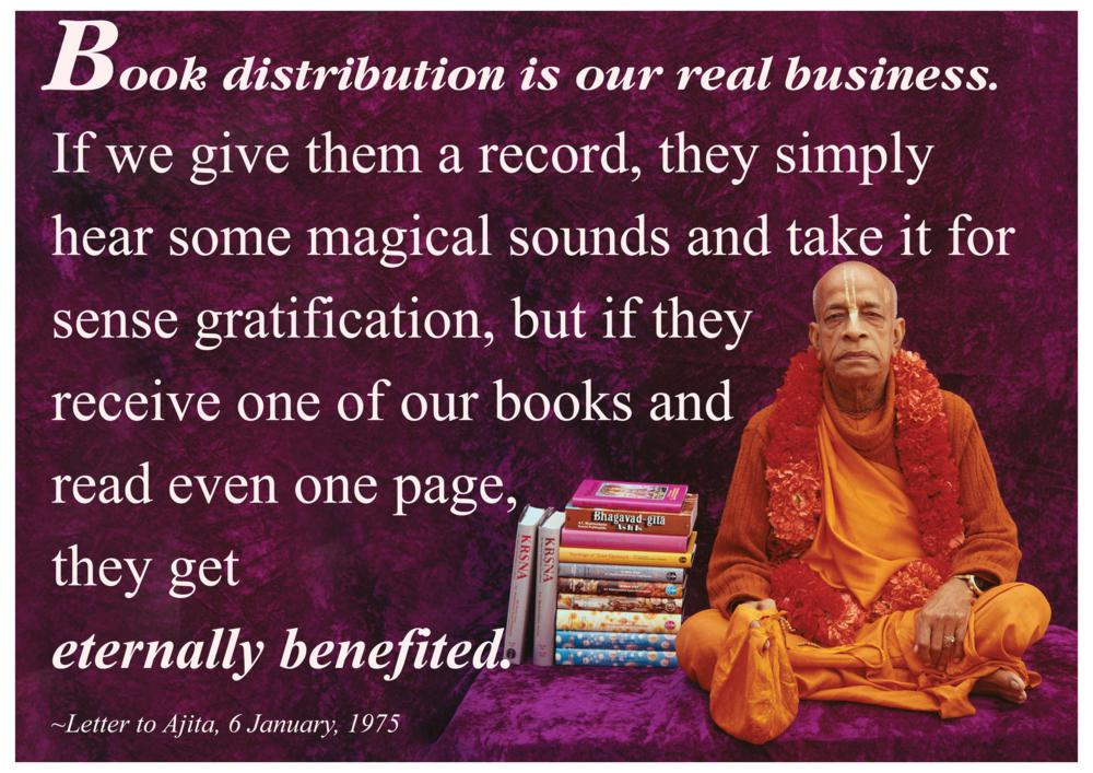Quotes by Srila Prabhupada on Book Distribution - Our Real Business