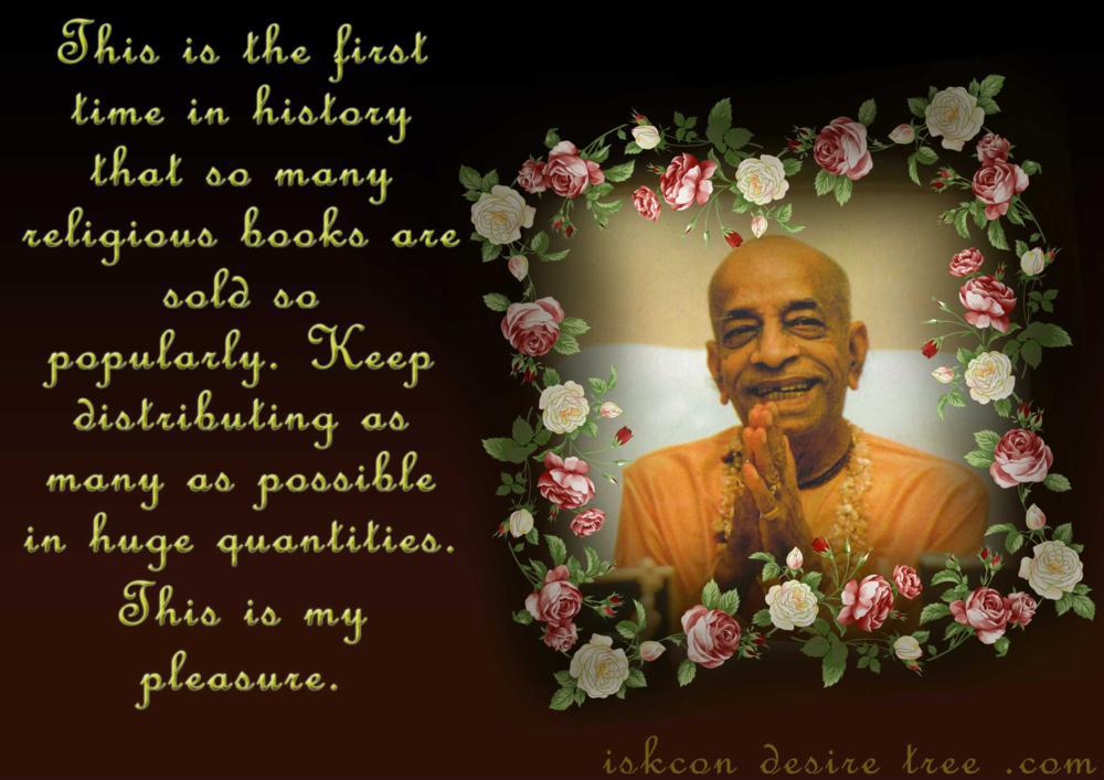 Quotes by Srila Prabhupada on Book Distribution - Pleasure of Srila Prabhupada