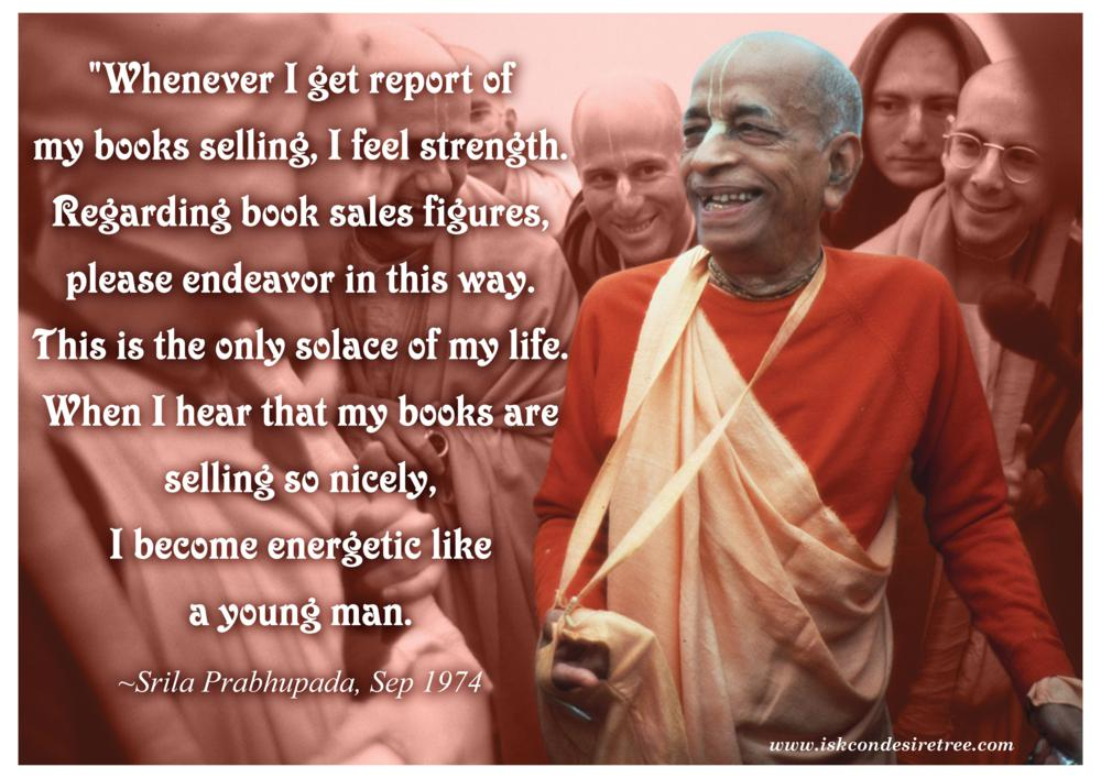 Quotes by Srila Prabhupada on Book Sales Figures