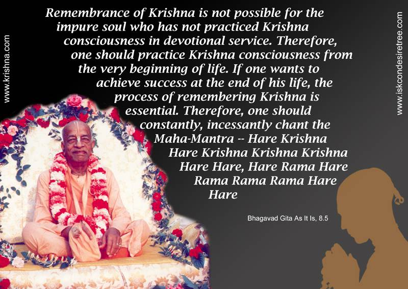 Quotes by Srila Prabhupada on Constantly Chanting The Hare Krishna Mahamantra