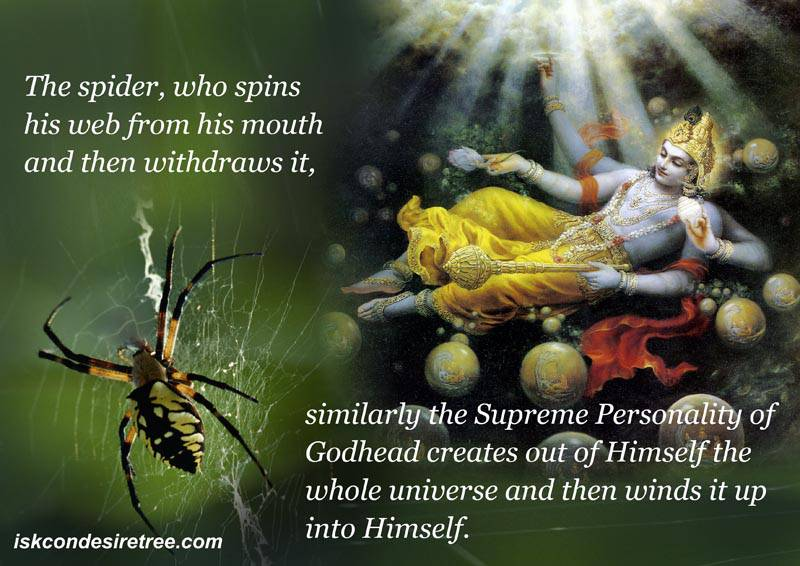 Quotes by Srila Prabhupada on Creation of The Universe