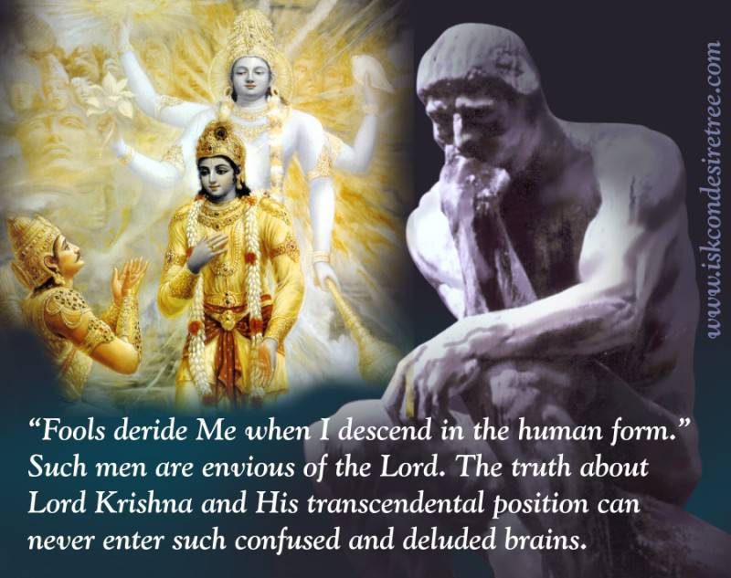 Quotes by Srila Prabhupada on Deluded Brains