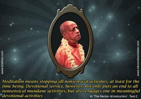 Quotes by Srila Prabhupada on Devotional Service