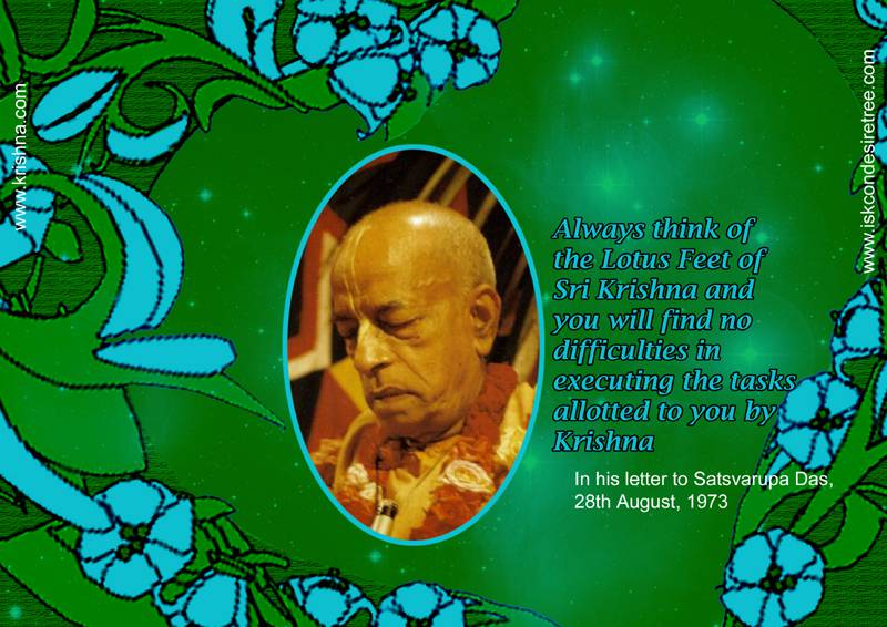 Quotes by Srila Prabhupada on Effect of Thinking About The Lotus Feet of Lord Krishna