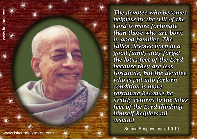 Quotes by Srila Prabhupada on Fortunate Devotees