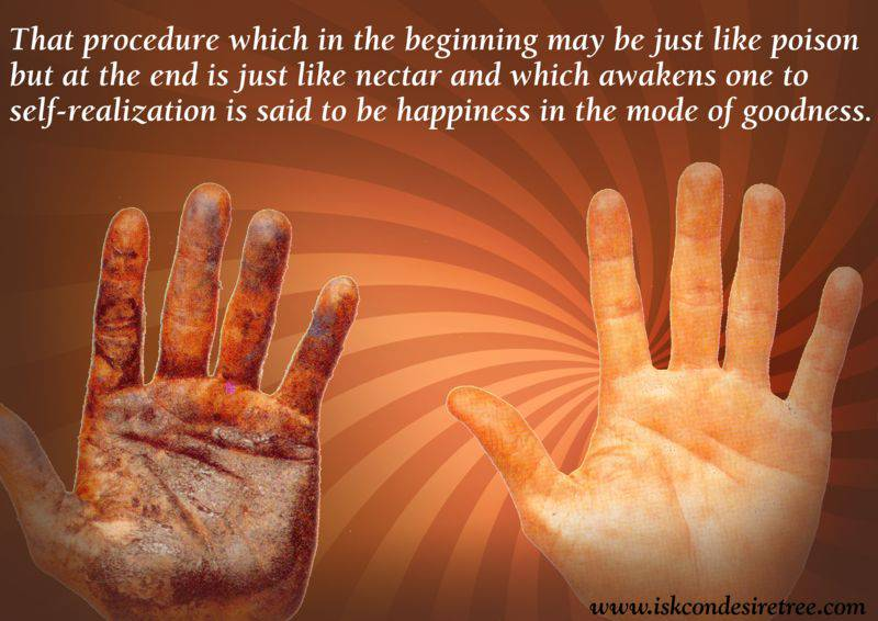 Quotes by Srila Prabhupada on Happiness in The Mode of Goodness