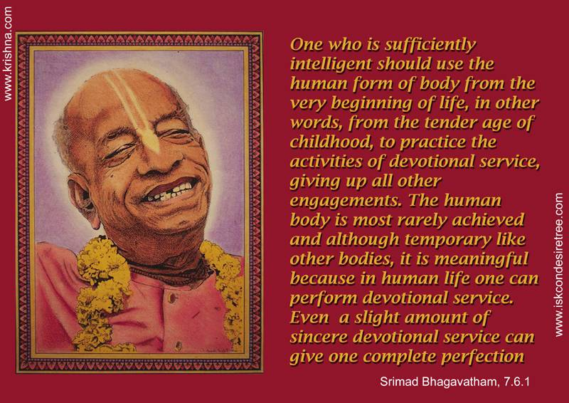 Quotes by Srila Prabhupada on How to Utilise This Human Form of Body
