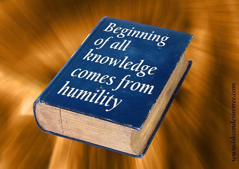 Quotes by Srila Prabhupada on Humility