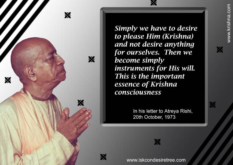 Quotes by Srila Prabhupada on Important Essence of Krishna Consciousness