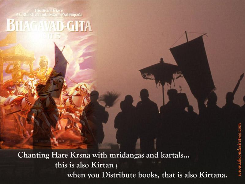 Quotes by Srila Prabhupada on Kirtan