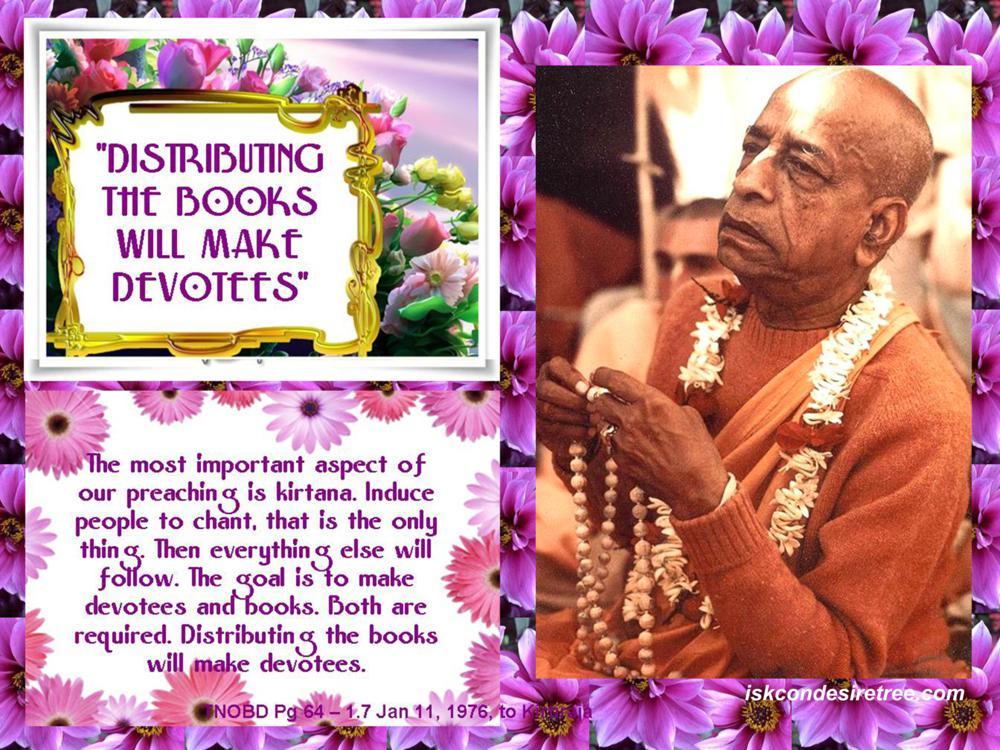 Quotes by Srila Prabhupada on Making Devotees