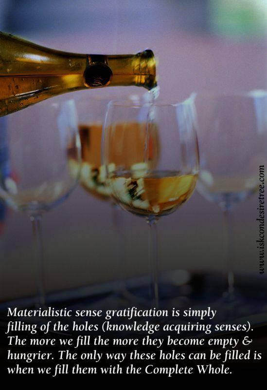 Quotes by Srila Prabhupada on Materialistic Sense Gratification
