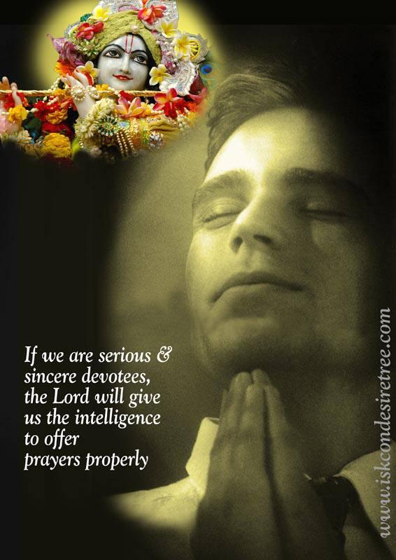 Quotes by Srila Prabhupada on Offering Prayers Properly