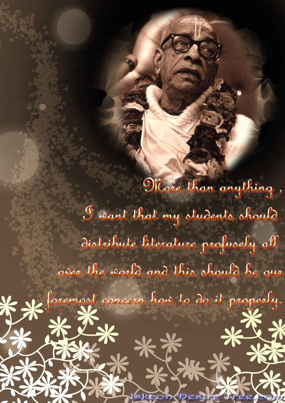 Quotes by Srila Prabhupada on Profusley Distributing Vedic Literature