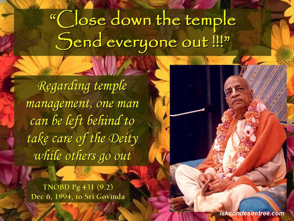 Quotes by Srila Prabhupada on Sending Everyone For Book Distribution