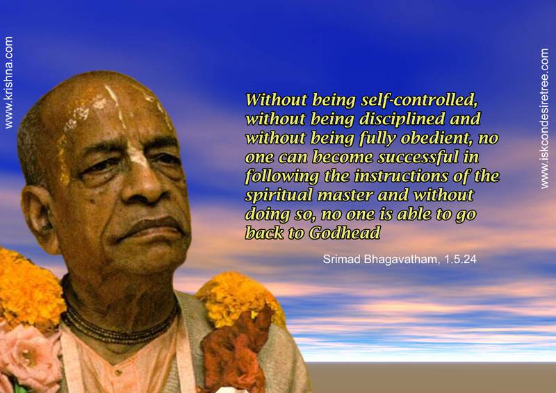 Quotes by Srila Prabhupada on Significance of Being Self Controlled