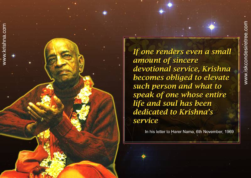 Quotes by Srila Prabhupada on Sincere Devotional Service