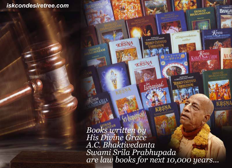 Quotes by Srila Prabhupada on Srila Prabhupada's Books